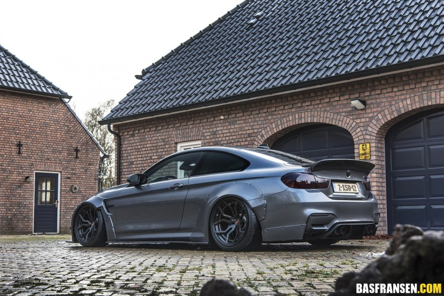 BMW M4 Coupe wheels Vossen HC-3  Rocket Bunny
