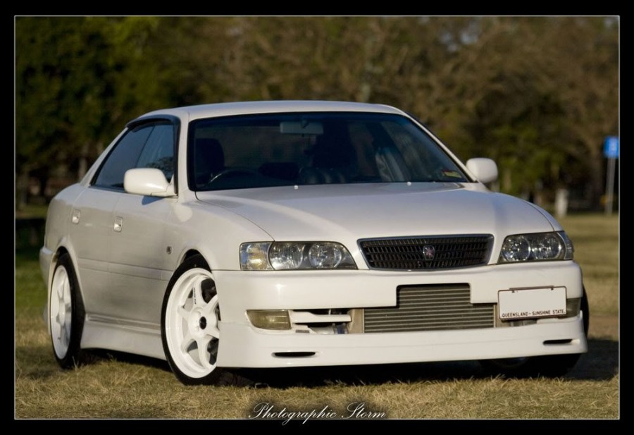 Toyota Chaser 100 wheels Buddy Club P1 18″ 9J ET30 235/40