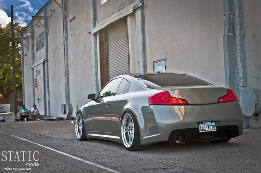 Infiniti G35 Coupe V35 wheels Work Varianza T1S 20″ 9.5J 225/35 10.5J 245/35