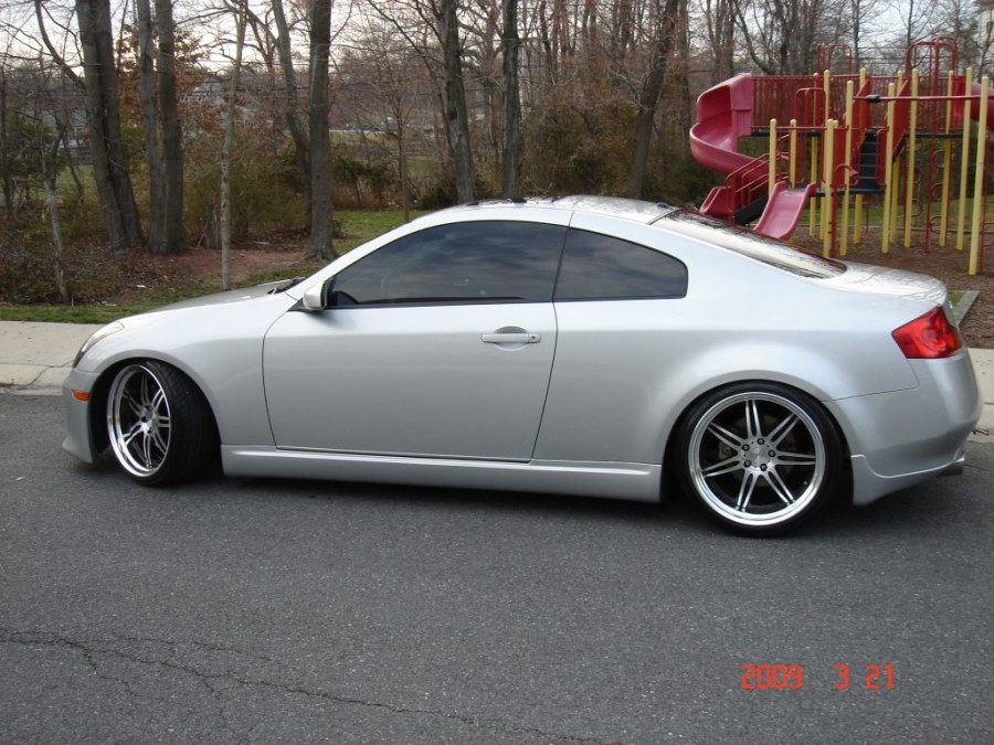 Infiniti G35 Coupe wheels Work Varianza T1S 20″ 9.5J ET5 225/35 10.5J 255/35