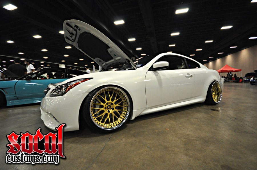 Infiniti G37 coupe wheels Work VS-XX 20″ 9.5J ET-7 225/35 10.5J
