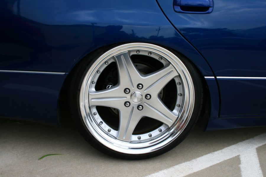 Lexus GS S160 wheels Work Euroline SL 20″ 8.5J ET37 225/30 9.5J 235/35