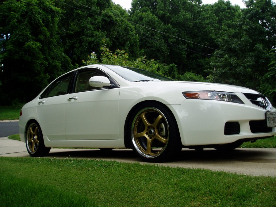 Acura TSX CL9 wheels Rays G-Games 77 Wolf 19″